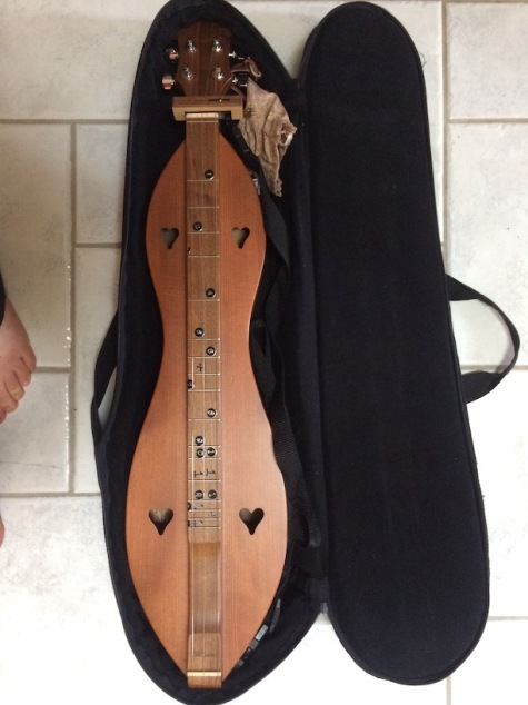 Dulcimer with soft sided case